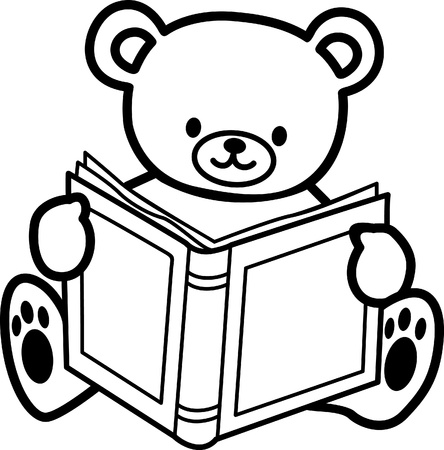 Illustration pour coloring  Teddy bear - image libre de droit