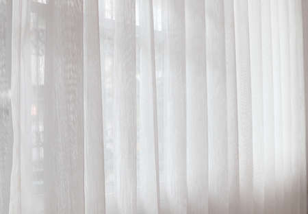Photo pour nice white curtain in the nice white bedroom in the luxury hotel resort in Thailand - image libre de droit