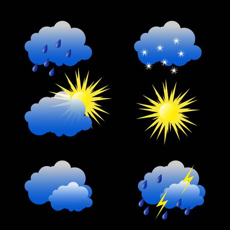Illustration for Weather Pictures illustration - Royalty Free Image