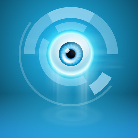 Abstract background with eye. EPS10 vector.