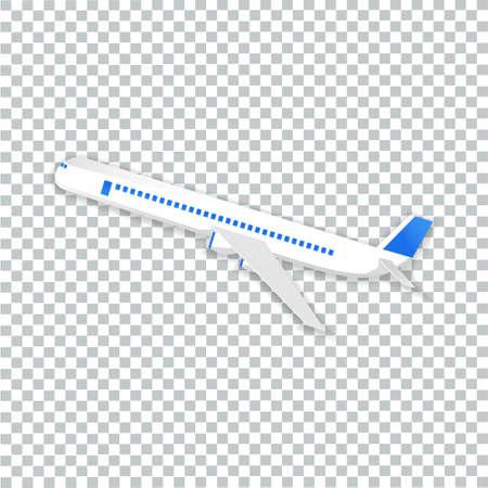 Illustration pour vector of airplane flying transparent background - image libre de droit