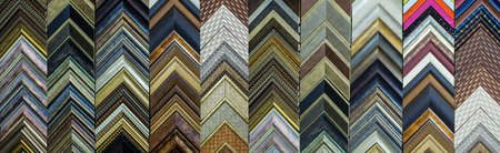 Photo pour Sample moldings for picture framing.  Much like you would find on a wall at an art supply or framing store  - image libre de droit