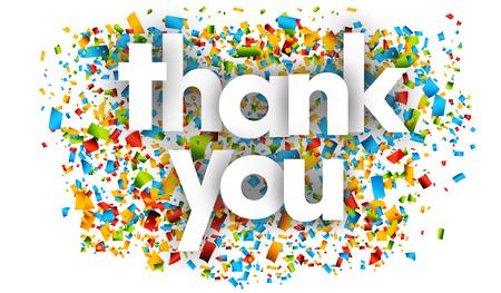 Ilustración de Thank You letters vector word banner sign - Imagen libre de derechos