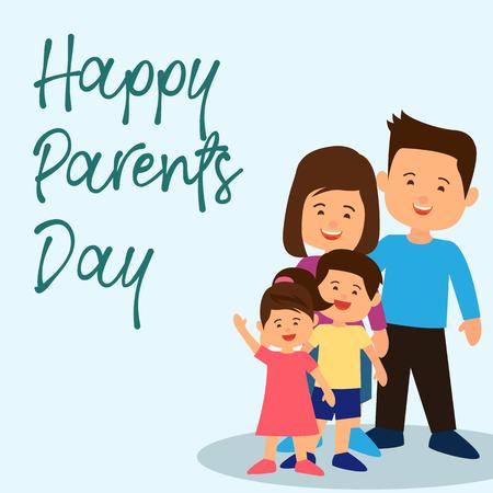 Illustration pour happy parent's day concept. vector illustration - image libre de droit