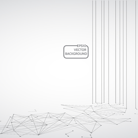 Network concept design Technology, Connection background, Abstract science