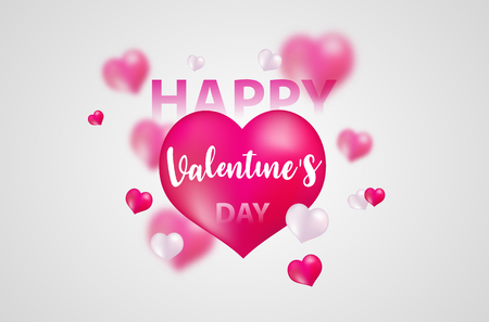 Illustration pour Valentine's day, banner template. red heart with lettering on background. tags poster design Vector brochure. - image libre de droit