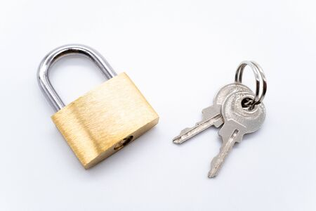 Photo for Padlock on a white background - Royalty Free Image