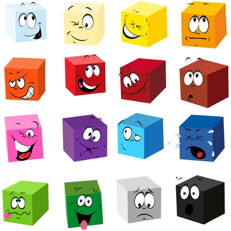 color cubes with many