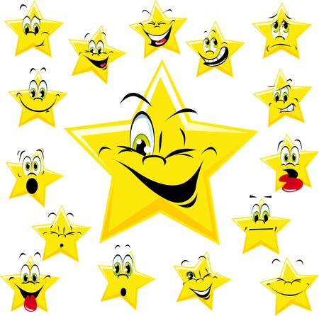 stars with many expressions