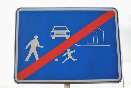 traffic sign, residential zone, South Bohemia, Czech Republic