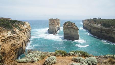 Photo pour Great Ocean Road landscape, Melbourne, Australia - image libre de droit