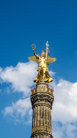 The Siegessaule, Victory Column located at the Tiergarten in Berlin, Germany