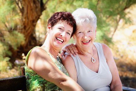 Foto für Beautiful senior mother and daughter - Lizenzfreies Bild