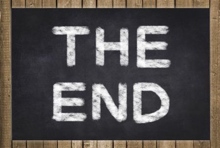 The End written on chalkboard