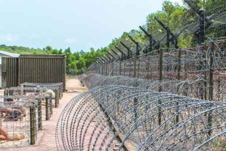 Phu Quoc Island, Vietnam - january 2014: Inside the Coconut Tree Prison, the Vietnam War museum on Phu Quoc Island in Vietnam