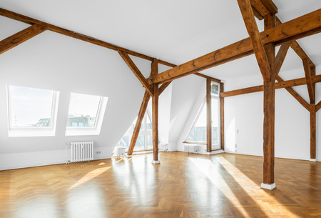 Photo for real estate interior - penthouse flat, empty room - Royalty Free Image