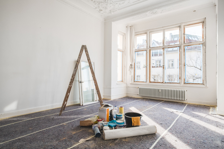 Photo for renovation concept - room in old building during restoration - - Royalty Free Image