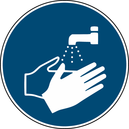Illustration pour wash your hands sign - mandatory sign iso 7010 - image libre de droit