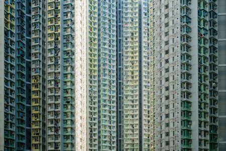 Photo pour big residential building, high-rise apartment building facade - - image libre de droit