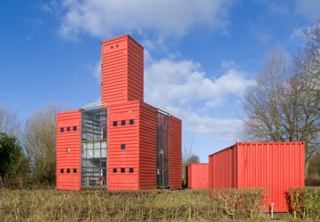 modern experimental houses in Almere, Netherlands. It's a street with 17 price winning designs of houses with the theme temporary living.