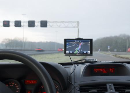 garmin gps navigation device in a car