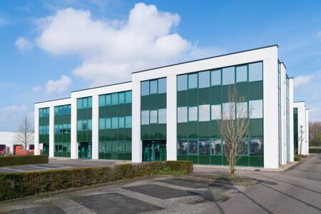 Photo pour exterior of a modern green office building in the Netherlands - image libre de droit