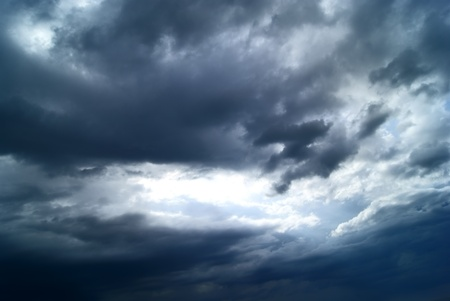 Dramatic cloudy sky before storm