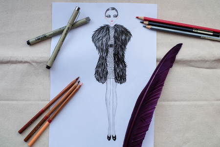 Fashion design, fashion illustration, fashion design sketch
