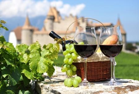 Photo pour Wine and grapes - image libre de droit