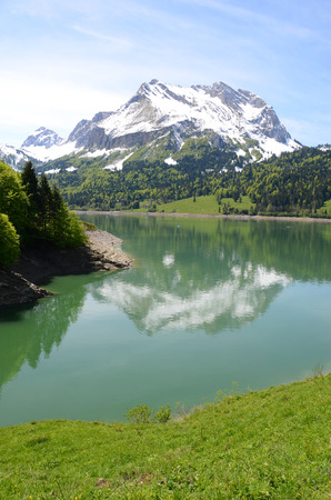 Alpine lake, Switzerland