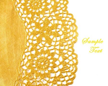 Photo pour Golden textile border with copy space - image libre de droit