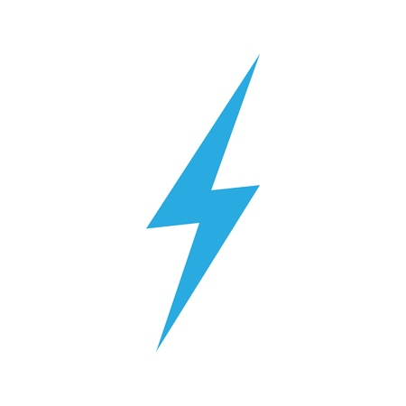 vector lightning isolated icon electricity energy symbol royalty free vector graphics vector lightning isolated icon