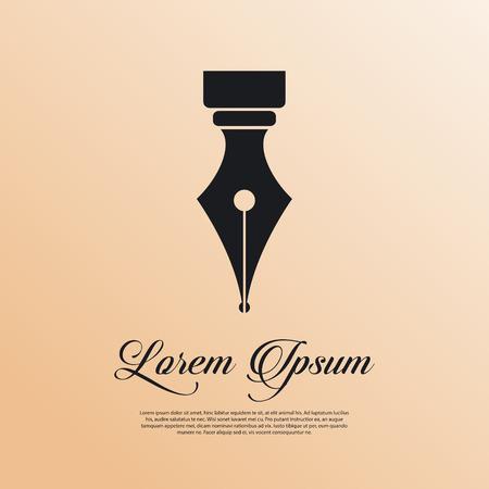 Illustration pour Fountain pen icon vintage style - image libre de droit