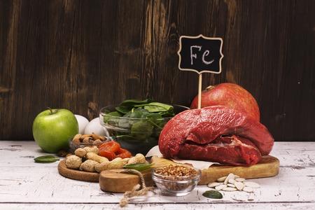 Foto de Healthy product rich of iron. Natural sources of ferrum. Selective focus - Imagen libre de derechos