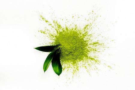 Photo for Green matcha tea powder - Royalty Free Image