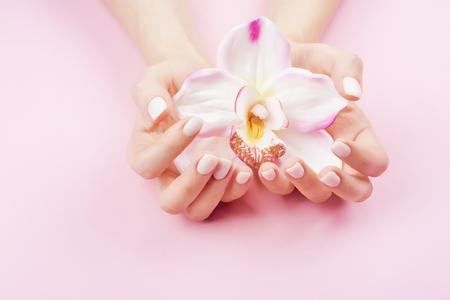 Photo for Beautiful pastel manicure - Royalty Free Image