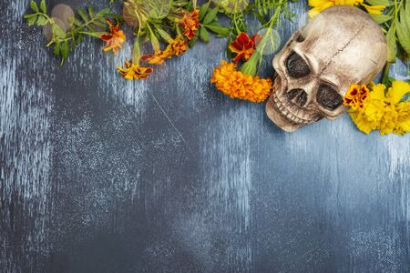 Photo pour Mexican day of the dead background - image libre de droit