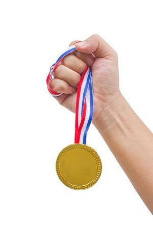 Golden medal in man
