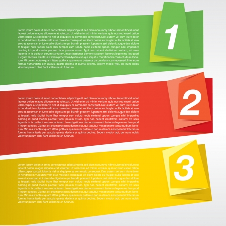 Colorful origami banner template