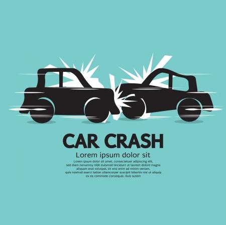Illustration pour Car Crash Illustration  - image libre de droit