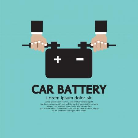 Car Battery Vector Illustration
