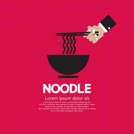 Noodles Vector Illustration