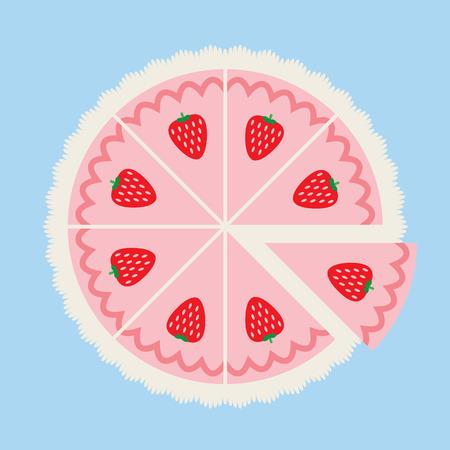 Strawberry Cake Illustration