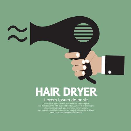 Hair Dryer Vector Illustration