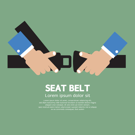 Seat Belt Vector Illustration
