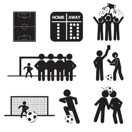 Ilustración de Football or Soccer Icons - Imagen libre de derechos