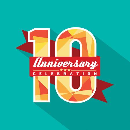 10 Years Anniversary Celebration Design
