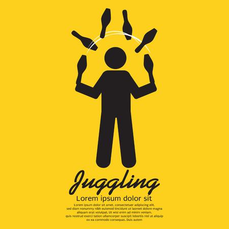 Juggling Graphic Sign Illustration