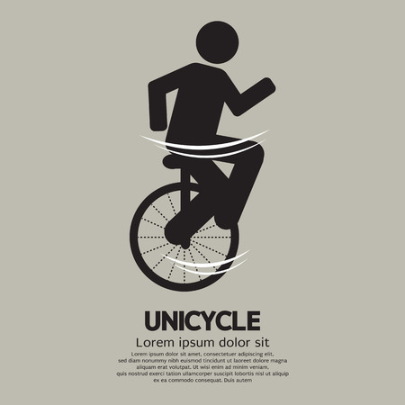 Unicycle Graphic Sign Illustration