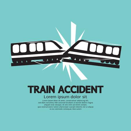 Illustration pour Train Accident Graphic Vector Illustration - image libre de droit